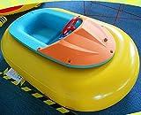 Barca electrica Hinchable para niños, Barquito de Feria, Aqua Boats, Bumper Boats o barquito de choques (Amarillo)