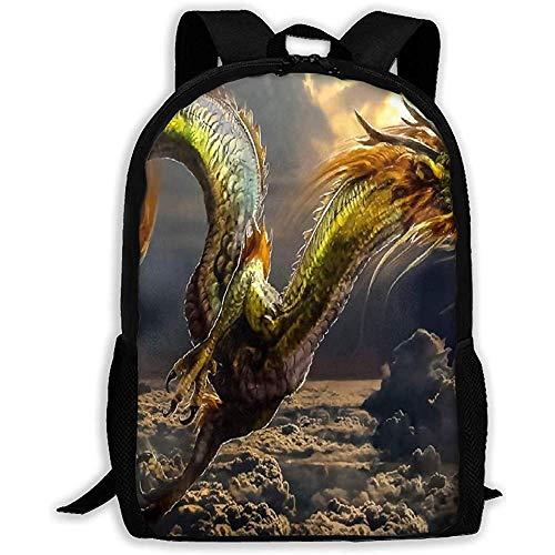 Lmtt Mochila Dragon Fire Ball Bookbag Bolsa de Viaje Informal para Adolescentes niños niñas