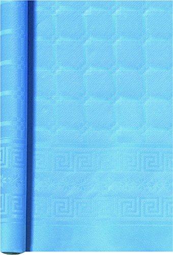 Bbs tafelkleed rood 7X1.20 lichtblauw