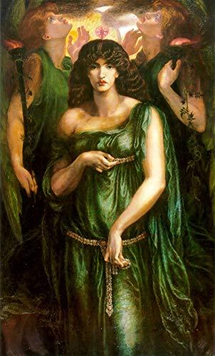 Dante Gabriel Rossetti - Astarte Syriaca, Size 14x24 inch, Poster Art Print Wall décor