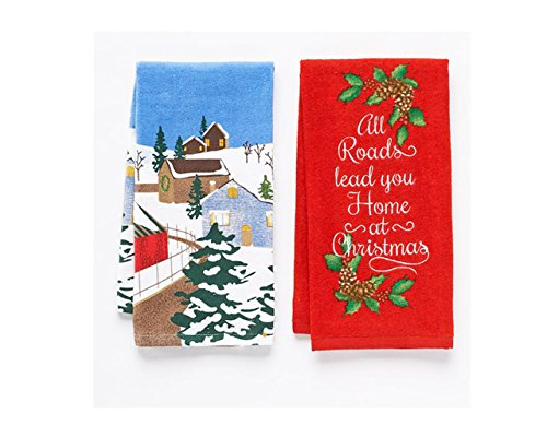 Christmas Kitchen Towels All Roads Lead You Home 2pk