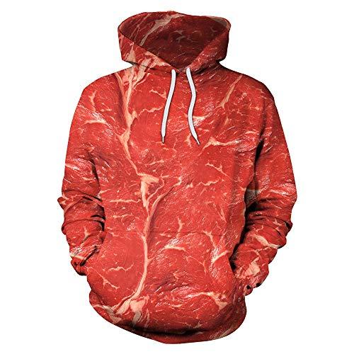 DEAR-JY Kapuzenpullover Sport-Pullover Europäische und amerikanische Rindfleisch-Digitaldruck-Sets von großen losen Pullover Liebhaber Pullover,157,XXL
