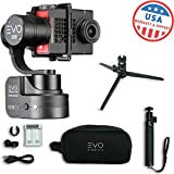 EVO SS 3 Axis Wearable Gimbal - Stabilizer for GoPro Hero4, Hero5, Hero6 Black, Yi 4K, Garmin Virb Ultra 30-1 Year USA Warranty - Bundle Includes EVO SS Gimbal, EVO GS-75 Tripod (2 Items)