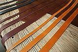 Black Brown vegetable tanned leather strap, veg tan full grain leather strip, 9/10 Oz (3.5 / 4mm) thickness,39 inch (1m) long LSX135V