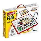 Quercetti 0570 - Fädel Spiel Filo, inklusive Vorlagenbuch, Fadelschnüren und Aufbewahrungsbox