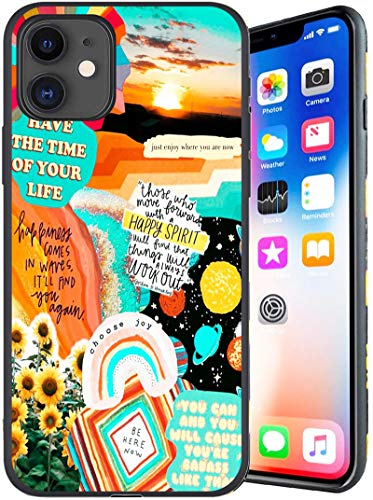Designed for iPhone 11 Case, Bright Summer Collage iPhone 11 Cases for Women/Man,Anti Scratch Shockproof Drop Protection Soft Cover, Fashion Back Cover Soft TPU Bumper Frame Full Body Case