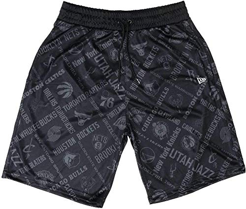 A NEW ERA Era NBA AOP Short all Teams Pantaloncini da Uomo, Nero, M