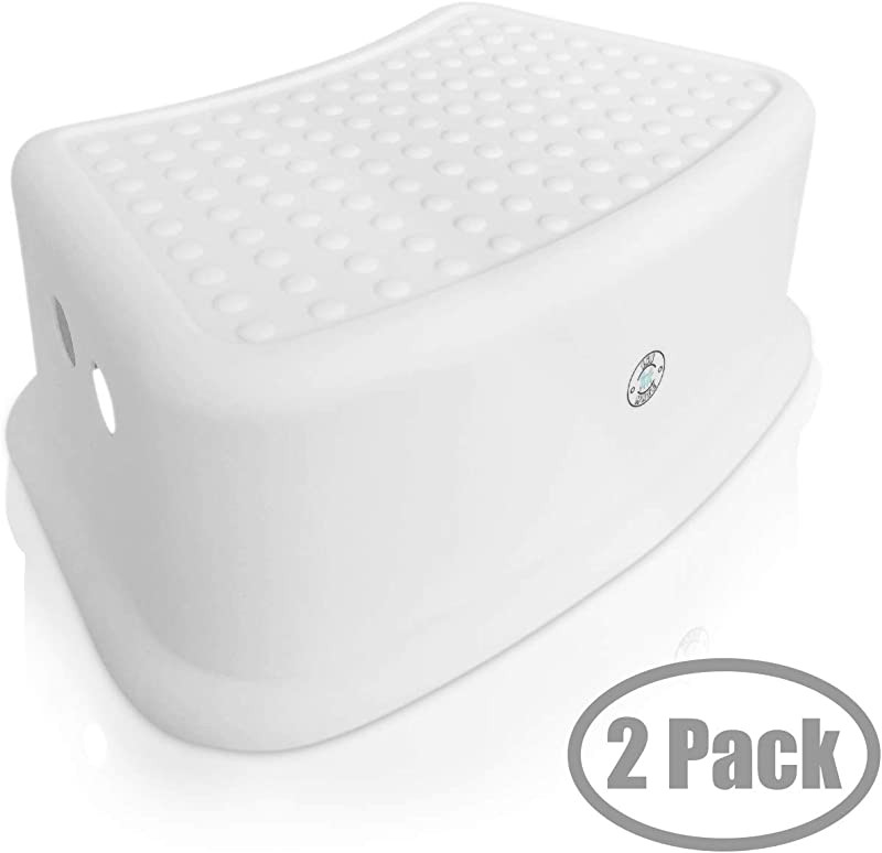 Step Stool For Kids Toddlers Potty And Toilet Training Stepping Stool Use In Bathroom Sink Bedroom Toy Room Kitchen And Living Room White 2 Pack