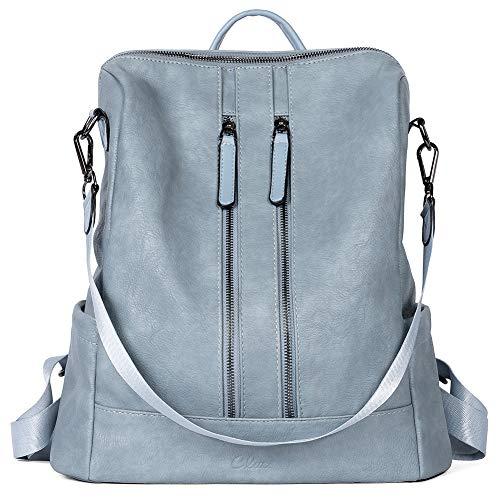 Cluci Women's Backpack Fashion Leather Shoulder Bag Elegant Large Travel Backpack Lightweight Bag for Women 2 in 1 Brown Size: Large