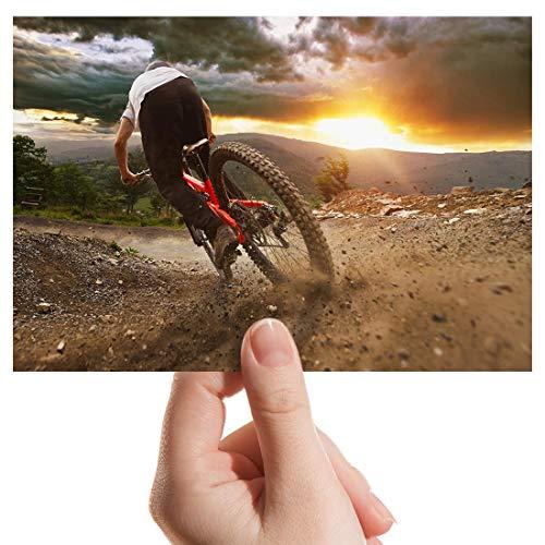 Photograph 6' x 4' - Mountain Biking Bike Trail Sunset Art Print 15 X 10 cm (6 X 4 in) 280gsm satin gloss photo paper #16150