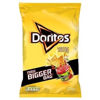 Doritos Lightly Salted Corn Crisps 225G  Pack Of 12