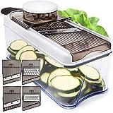 Adjustable Mandoline Slicer Vegetable Slicer - Potato Slicer Veggie Slicer 5 Blades - Vegetable...