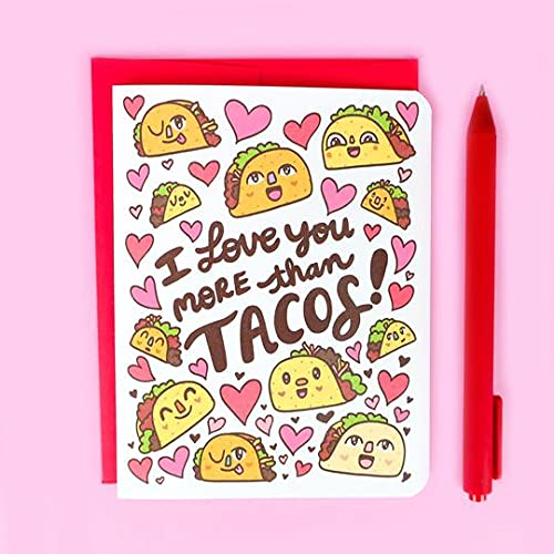 I Love You Year-end annual account 2021new shipping free shipping More Tacos Funny Card Than
