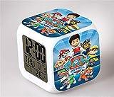 Kids LED Digital Anime Alarm Clock 7 Color Night Light Cartoon Bedroom Cute Music Alarm Clock Mini Travel Wake Up Alarm Clock Movie Fans Alarm Clock Birthday Gift for Children Boys Girls Teens,6