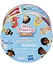 Disney Princess Comics 2-Inch Collectible Dolls, Doll Surprise Blind Box with Disney Princess Characters, Series 3- One Assorted Doll