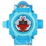 MJ Ragav Cartoon Doraemon Wrist Projector Watch for Kids with 24 Images