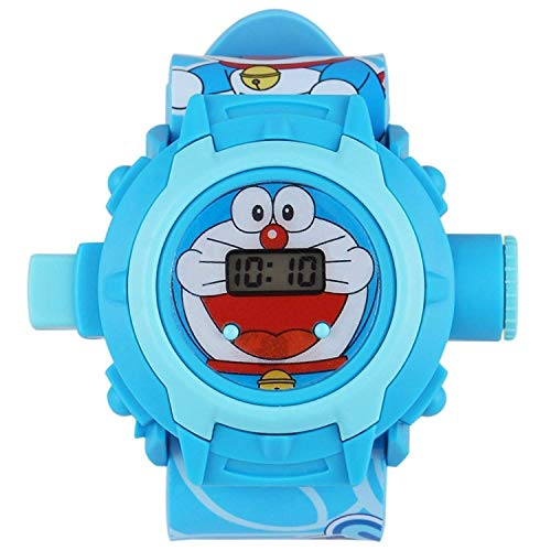 MJ Ragav Cartoon Doraemon Wrist Projector Watch for Kids with 24 Images