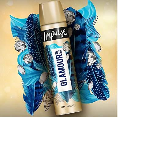 Impulse Into Glamour Deospray, 3er Pack (3 x 75 ml)