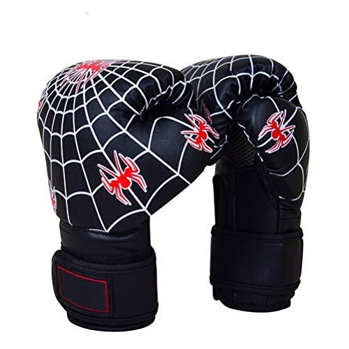 QJQJ Boxhandschuhe 6oz Kinder Boxsack Sparring-Kampf MMA Muay Thai Grappling Kampf Mitts Martial Arts Training Kickbox Stanzen Glove,Blau
