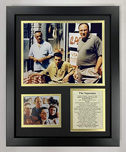 Legends Never Die The Soprano's- American Drama Series About The Mob Collectible   Framed Photo Collage Decor - 12'x15' (16173U)