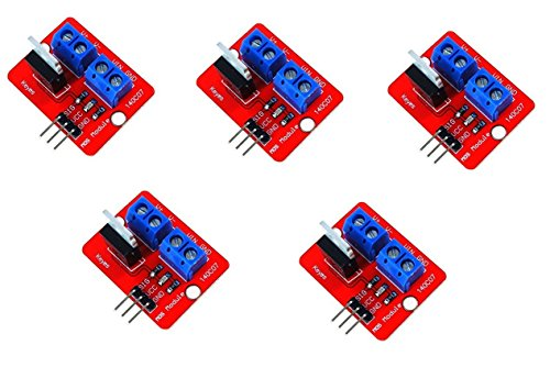 ARCELI 5Pcs 0-24V Top Mosfet Button IRF520 MOS Driver Module For MCU ARM Raspberry pi