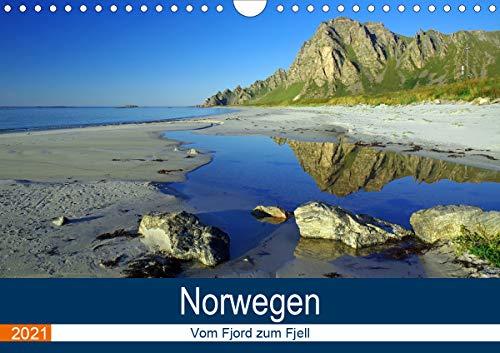 Norwegen 2021 - vom Fjord zum Fjell (Wandkalender 2021 DIN A4 quer)