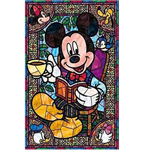 DIY 5D Diamond Painting Kits for Adults and Kids,Mickey Mouse Cartoon Full Drill Crystal Rhinestone Embroidery Arts Craft Canvas Cross Stitch for Home Wall Decor or Gift, 16