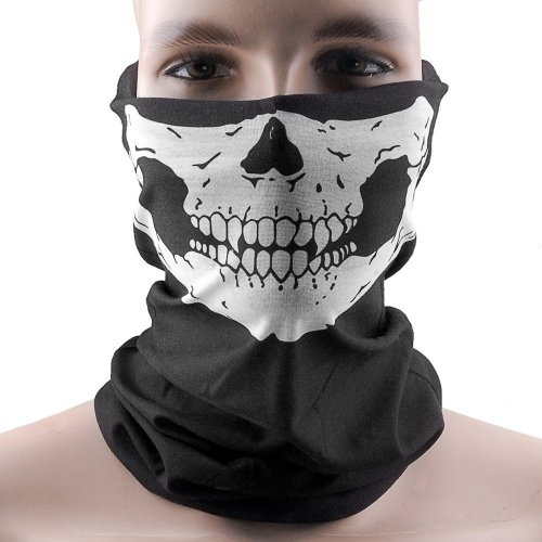 Hitaocity Motorcycle Skull Mask / Wear Headgear Neck Warmer Cycling Goggles Bandana Balaclava Half Ski Skiing Winter Store Shop Item Stuff Protective Hannibal Cheap Skeleton Scary Funny Unique Mouth Full Motorbike Vespa Scooter Riding Biker Rider Fahsionable Fashion Facial Anti Dust Wind Head Wear Hat Scarf Face Cap Cover Cool Helmet Clothing Apparel Clothes Face Black Accessories Gear Part Tool Stuff Supplies Gadgets Men Women Kid Children Bike Decor