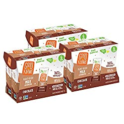 Good Karma Plant-Powered Flaxmilk, Chocolate, 6.75 oz Lunchbox Carton (Pack of 18) Dairy-Free, Plant Based Milk Alternative