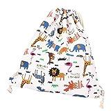 Depory Bolsa y Mochila de Tela de algodón Unisex para niños o Adolescentes, diseño con Dibujos de Animales