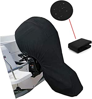 PENCK Outboard Motor Covers, Black 60-100HP Boat Covers, Boat Storage Full Cover with 600D Heavy Duty Oxford Fabric, Water...