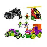 Imaginext DC Super Friends Super-Hero Showdown Gift Set - Includes Batman, Robin, Joker, Riddler + 4 Vehicles Giftable Box