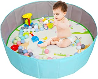 Folding Ball Pool Baby Foam Ball Pit - Foldable Indoor and Outdoor Cute Children Ball Pool Ocean Ball Pit