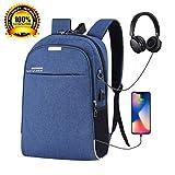 ASEOK Diebstahlsicherer Business-Rucksack, Rucksack mit USB-Ladegerät, reflektierender,...