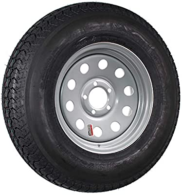 Trailer Tire On Rim ST215/75D14 14 in. Load C 5 Lug Silver Modular Wheel