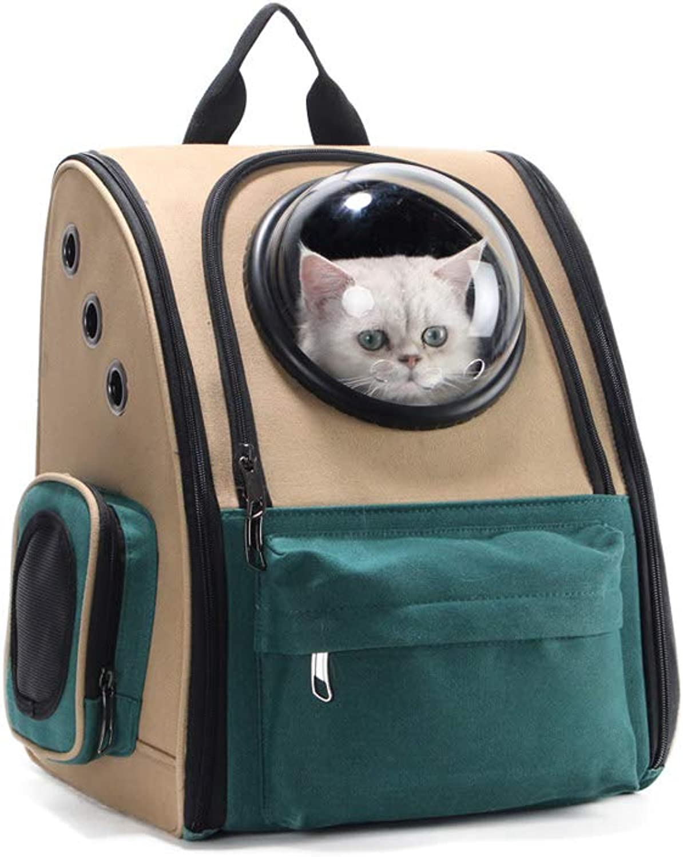 Backpack Portable Pet, Breathable Durable Canvas Shoulder Pet Carrier Wearresistant Scratchresistant Travel Puppy Bagfor Pets of Medium Size Cats & Dogs,A