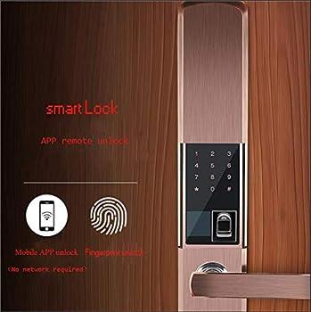 Serrure de mot de passe d'empreinte digitale intelligente serrure électronique, clef intérieure de mot de passe, déverrouiller de $ $ etAPP, glissière antivol automatique électronique de porte