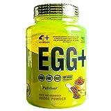 4+ Sport Nutrition Egg + 1000 g, 1 kg, 1 unidad de proteína de albúmina hasta un 75% de proteína pura sin azúcar (chocolate)