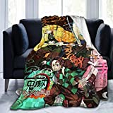 Fashion Ultra-Soft Micro Fleece Blanket with 50 x 40 Inch, Anti-Pilling Folded De-mon Sl-Ayer Kimetsu no Yaiba Character Poster Cosplay Throw Blanket Bed Cover, Warm Cozy Bed Blanket for Kids Adults