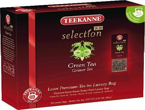 Teekanne Selection 1882 im Luxury Bag - Green Tea - fein-herb, duftig-frisch, 20 Portionen, 1er Pack (1 x 80 g)