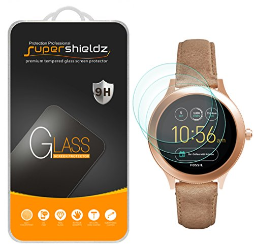 (3 Pack) Supershieldz for Fossil Q Venture Gen 3 Smartwatch Tempered Glass Screen Protector, Anti Scratch, Bubble Free