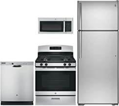 GE 4-Piece Kitchen Package with GTS18GSHSS 28
