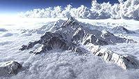 ジグソー風景ジグソーパズル子供と大人のための凍った雪の山木製のパーソナライズされた組み立てジグソー楽しいゲーム、写真はカスタマイズできます