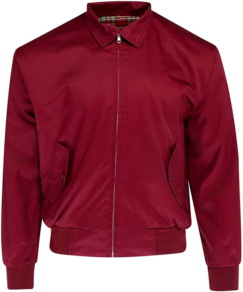 Relco Mens Harrington Special Washington Mall price for a limited time Jacket S Burgundy