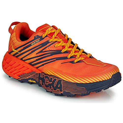Hoka One One Herren Speedgoat 4 GTX Schuhe, Mandarin red-Gold Fusion, US 8.5