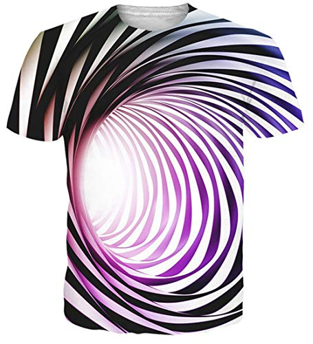 NEWISTAR Men 3D Short Sleeve Tee Cool Graphic Tees Novelty Printed Short Sleeve t-Shirts