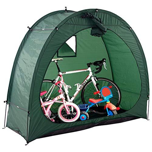 Prevessel Tienda de campaña para bicicleta, tienda de campaña de almacenamiento para bicicletas, cobertizo de 190T al aire libre de almacenamiento de bicicletas cubierta scooter 200 x 88 x 165 cm