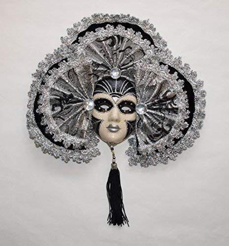 Unbekannt Générique Venecia Mascara, 3 Negros, 25 x 21 cm