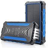 YLDXP Banque d'énergie Solaire 30000 Mah, Chargeur Portable sans Fil Chargeur Solaire Batterie...