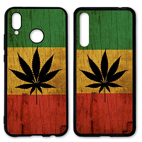 Handyhülle Weed für Huawei Silikon Hülle Gras Marihuana Cannabis Canabis Hanf Holz Holzhülle Bang, Hüllendesign:Design 5 | Silikon Schwarz, Kompatibel mit Handy:Huawei P20 Lite